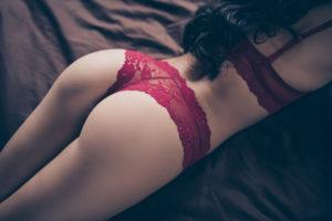 beautiful women in red lingerie